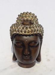 Buddha Hoved Golden Silver