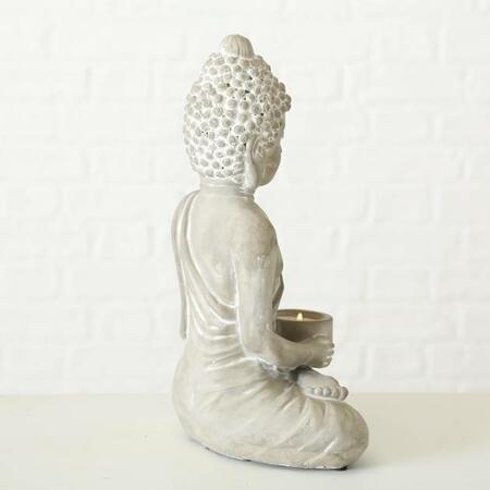 Buddha tealight lysestage i cement