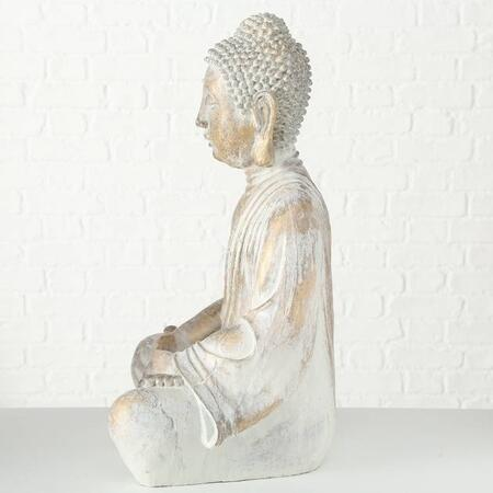 Siddende Buddha Gold Antique - 67cm
