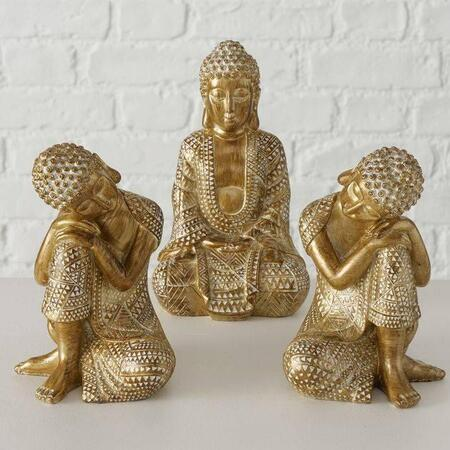 Buddha figurer i sæt / Dilara gold antique