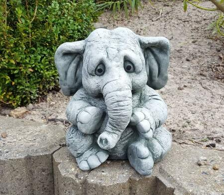 Elefant havefigur i cement / beton