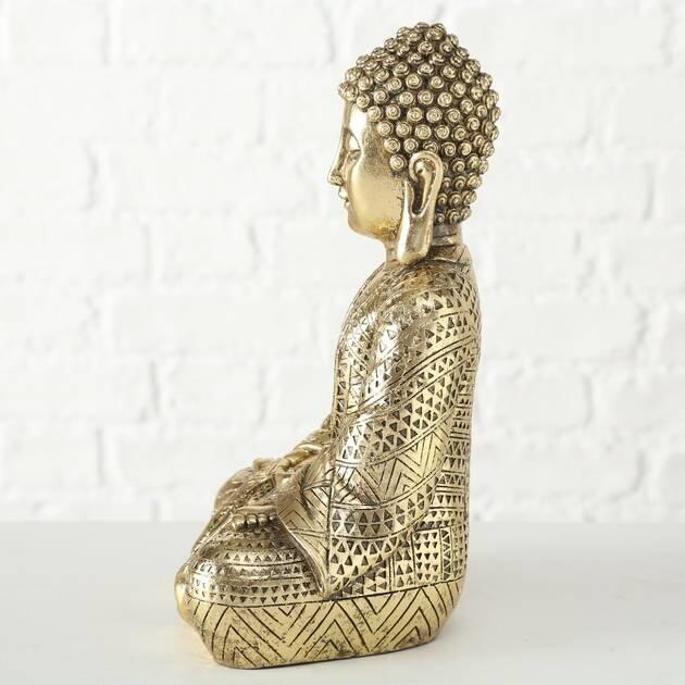 45e8171f530 Køb Guld Buddha Figur - Buddha Statue I Guld Polyresin 38cm